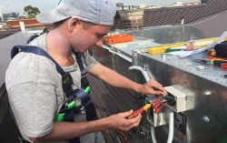 Professional kitchen exhaust fan repairs and air con repairs.